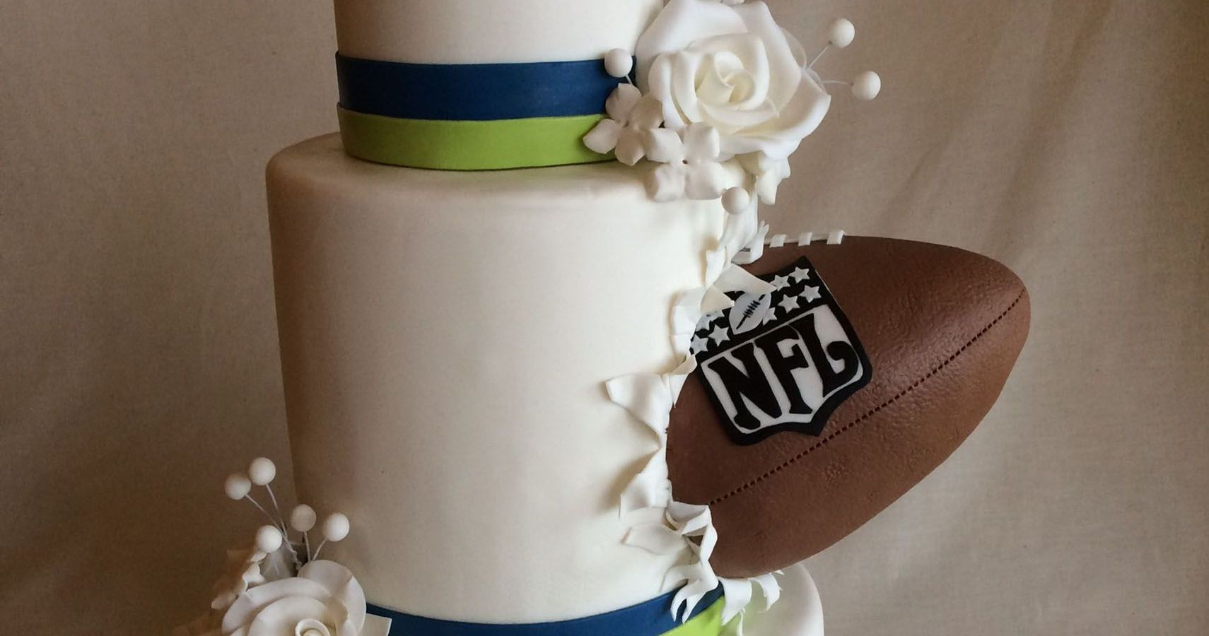 Bride Pranks Groom On Wedding Day With Rival Football Cake