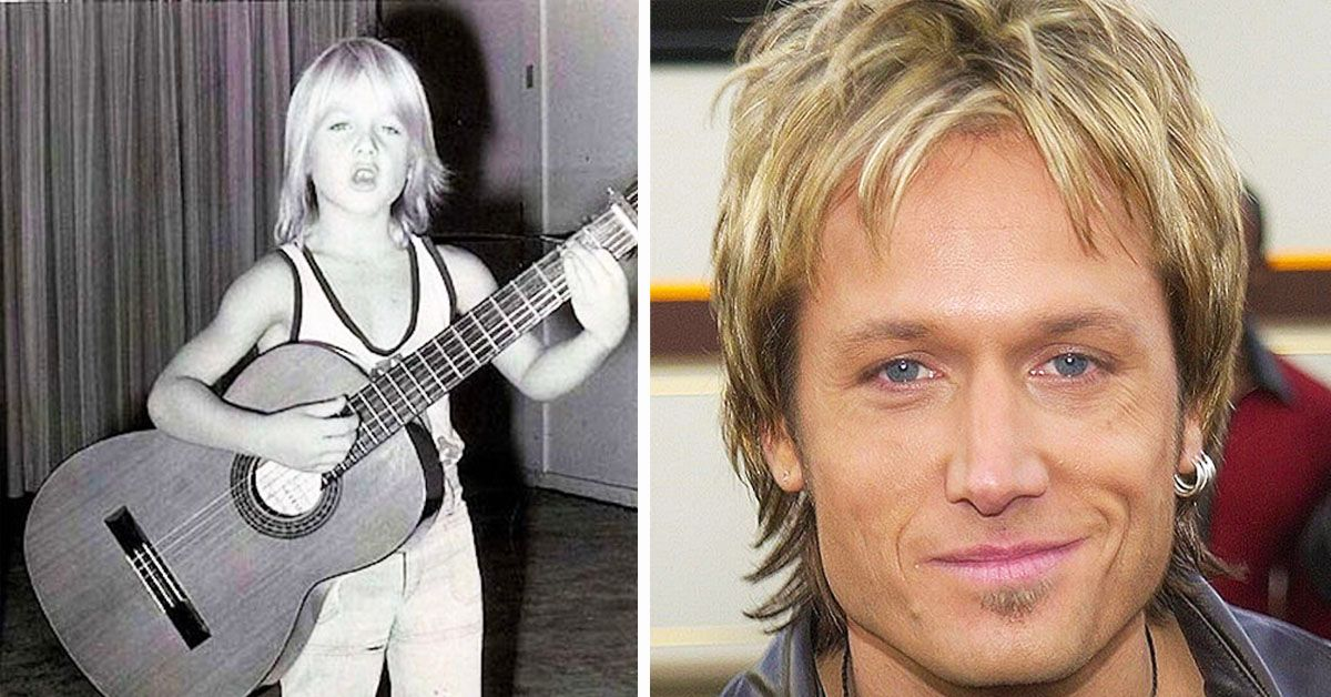 Throwback Photos Of Keith Urban Growing Up That Are Unrecognizable