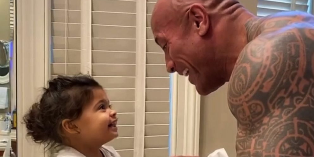 Dwayne Johnson Tells The Hilarious Story Of His Youngest Daughter's Bathroom Emergency
