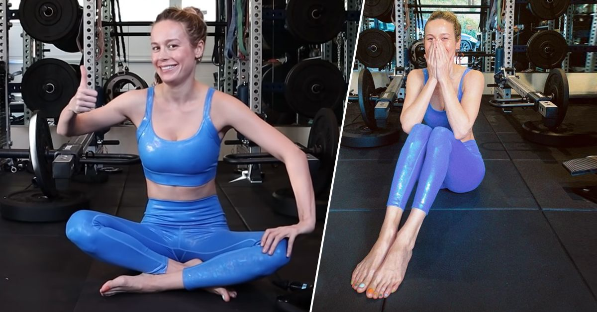 Brie Larson's Hobbit Feet Are Back In New Home Workout Video